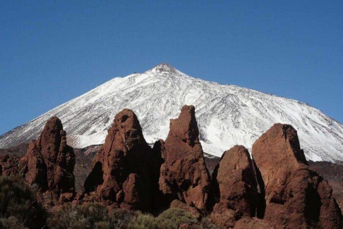 el volcan teide nevado
